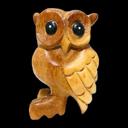 """3"""" Wooden Owl"""