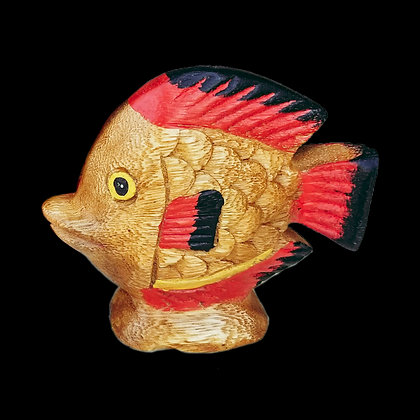 Wooden Fish Decor Figurine