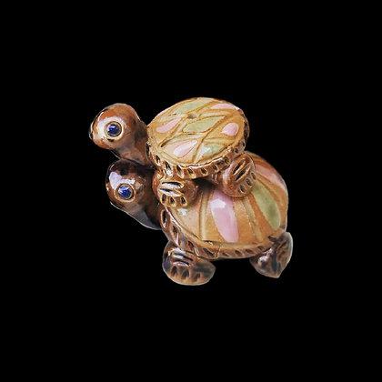 Ceramic Turtle Incense Holder Set of 2