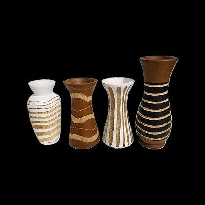 Wooden Vase Set of 4 A