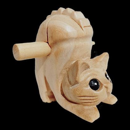 """3"""" Wooden Cat"""