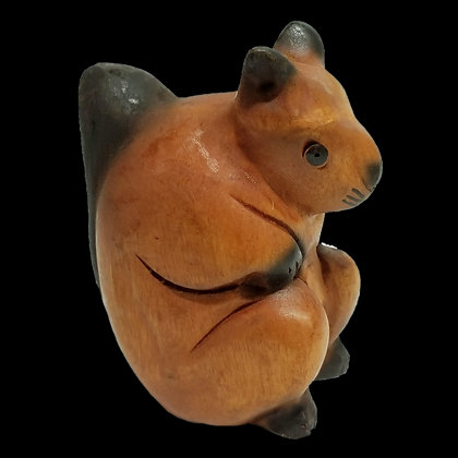 "4"" Oak stained Squirrel"