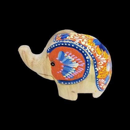 Unique colorful friendly elephant