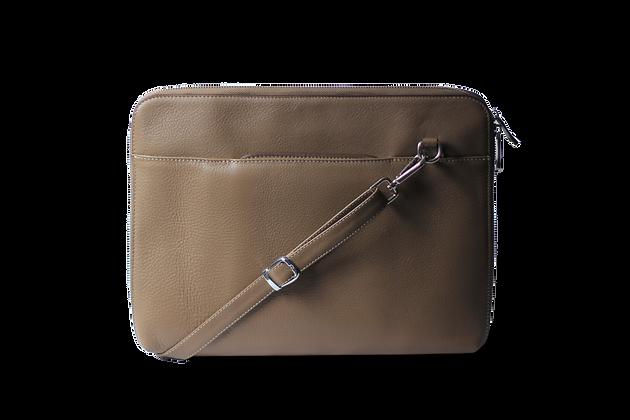 Pan Hakiki Deri Laptop ve Tablet Çantası Bej