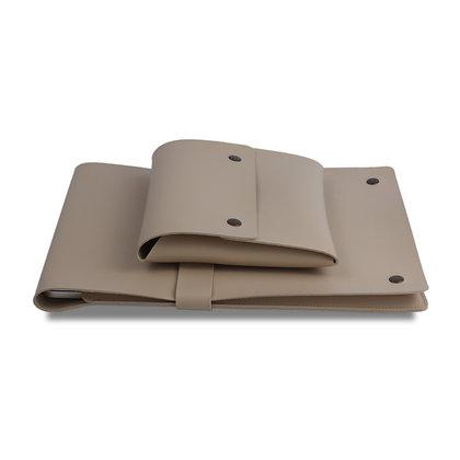 Meles Deri Desk Pad & Laptop Kılıfı Vizon