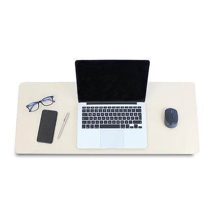 Hermus Çift Taraflı Deri Desk Pad Somon - Bej