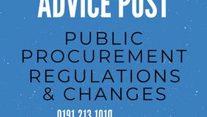 Amendments to the Public Procurement Regulations