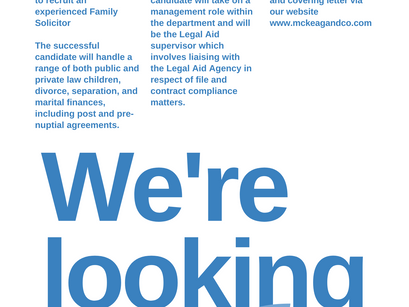 Recruitment Post - Family Solicitor