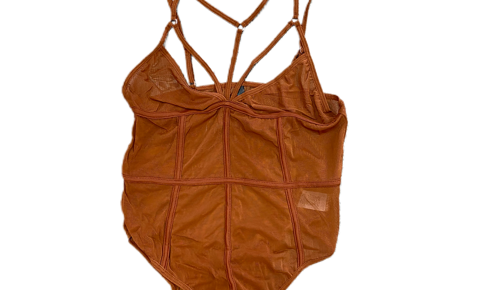 """Meshing Around"" Bodysuit -Copper"