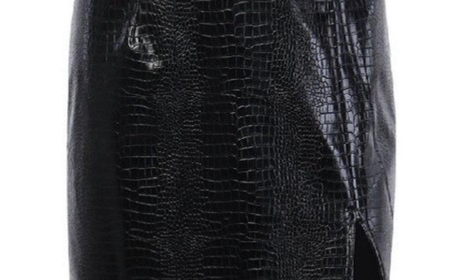 Black Reptile Skirt