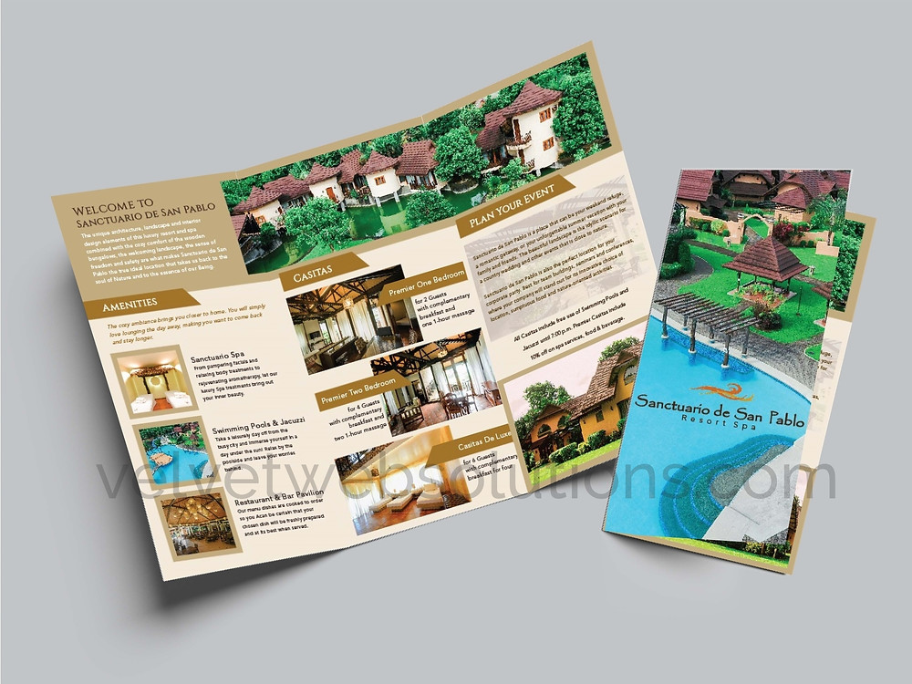 Sanctuario de San Pablo Brochure Design 1 © 2019 VelvetWeb Solutions