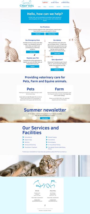 Otter Vet website