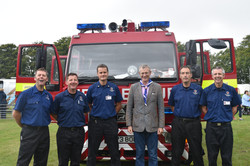 Jeremy with the local Fire Service