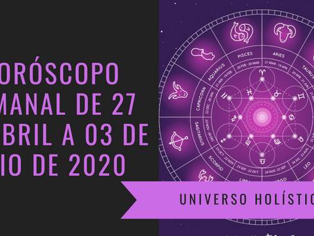 Horóscopo Semanal de 27 de Abril a 03 de Maio de 2020