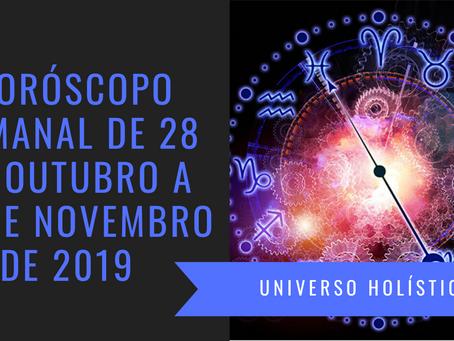 Horóscopo Semanal de 28 de Outubro a 03 de Novembro de 2019