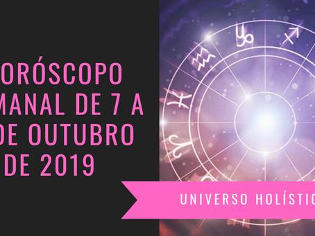 Horóscopo Semanal de 07 a 13 de Outubro de 2019