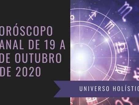 Horóscopo Semanal de 19 a 25 de Outubro de 2020