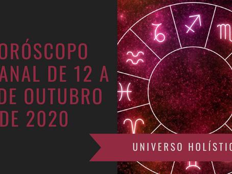 Horóscopo Semanal de 12 a 18 de Outubro de 2020