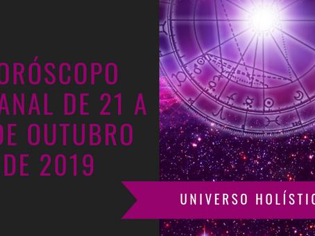Horóscopo Semanal de 21 a 27 de Outubro de 2019