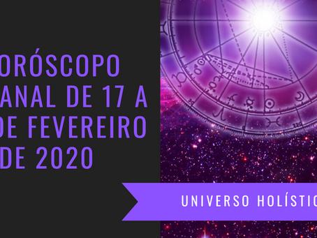 Horóscopo Semanal de 17 a 23 de Fevereiro de 2020