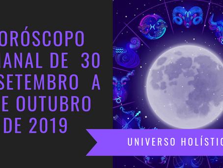 Horóscopo Semanal de 30 de Setembro a 06 de Outubro de 2019