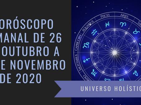 Horóscopo Semanal de 26 de Outubro a 01 de Novembro de 2020