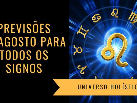 Horóscopo Agosto/19 para todos os Signos