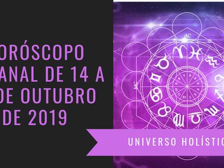 Horóscopo Semanal de 14 a 20 de Outubro de 2019