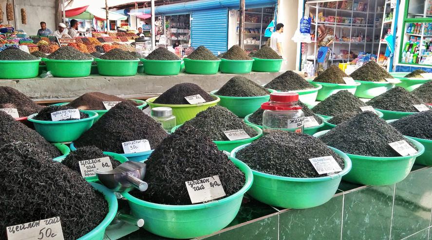 Tea at Tajik Bazaar
