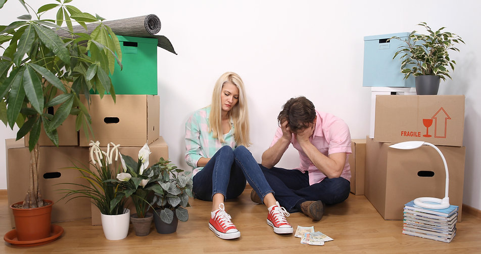 Upset Married Couple Have Money Financia