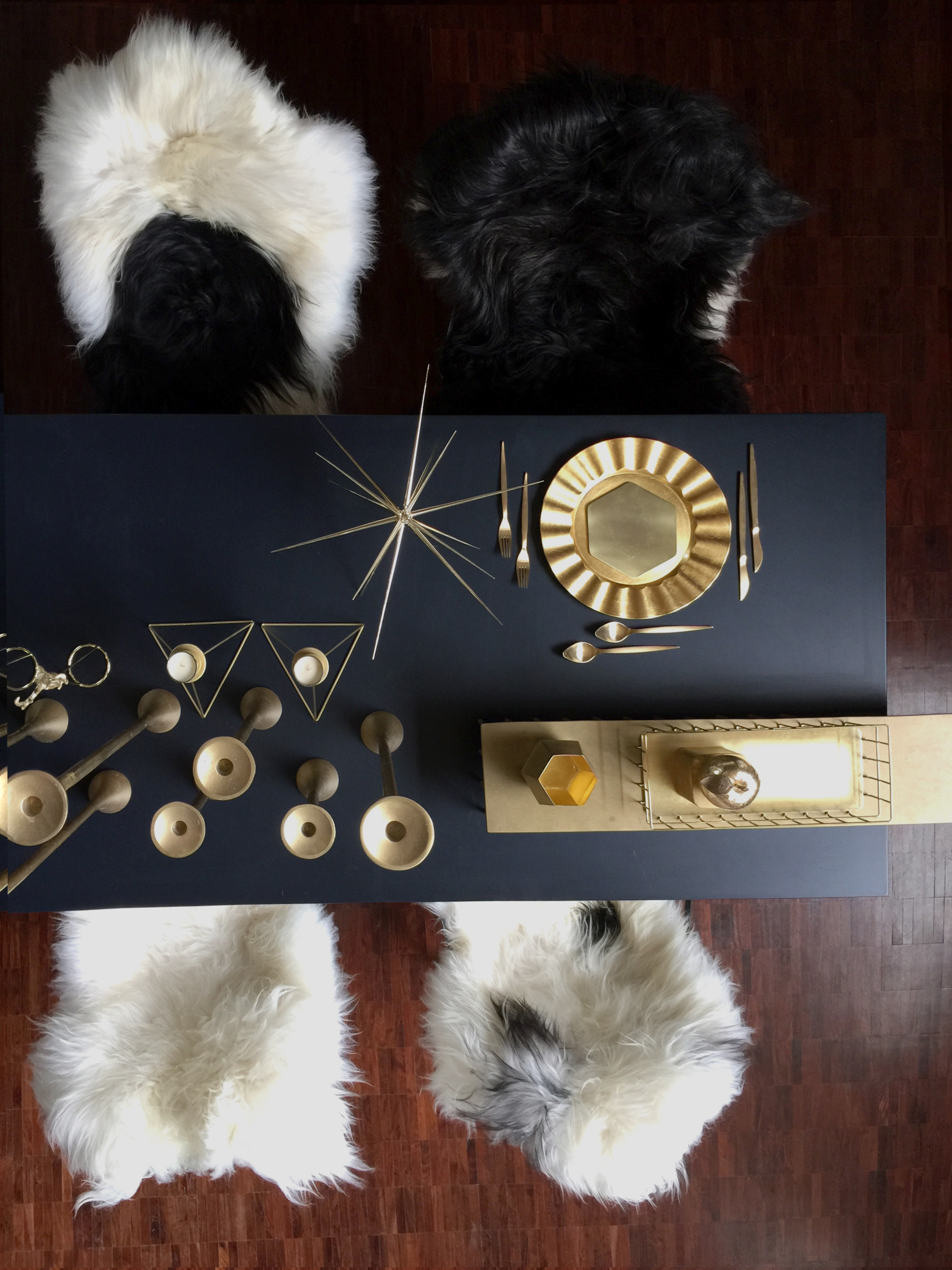 Gold, Black & Sheepskin