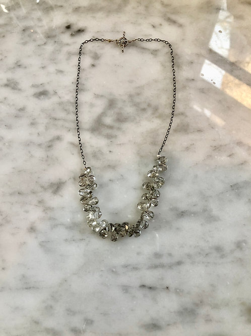 "Rutilated Quartz Necklace 16"" Sterling SilverDainty"
