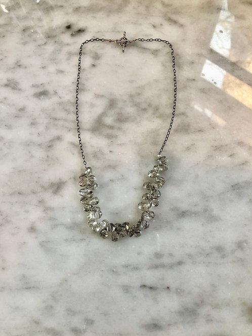 "Rutilated Quartz Necklace 16"" Sterling SilverDainty"
