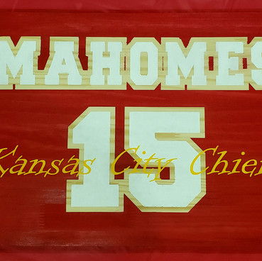 Custom signs, go Chiefs!