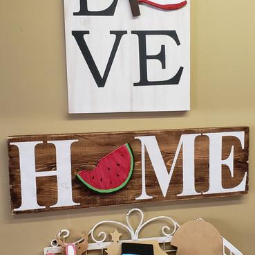 Home and Love board art