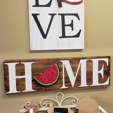 Home and Love board art