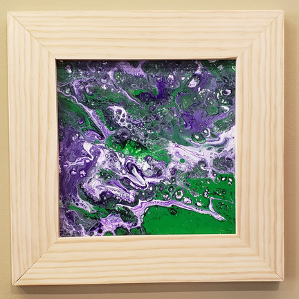 Acrylic pour with frame