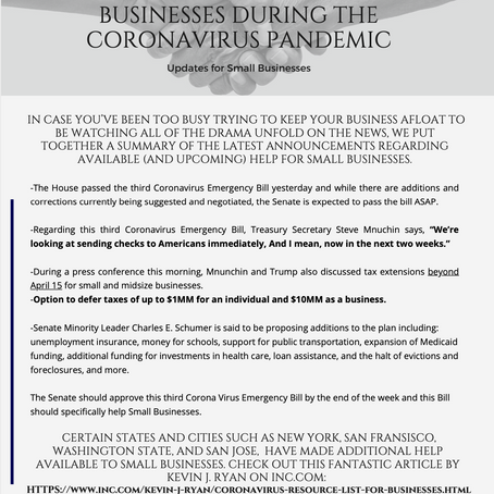 Latest Updates on Emergency Help for Small Businesses