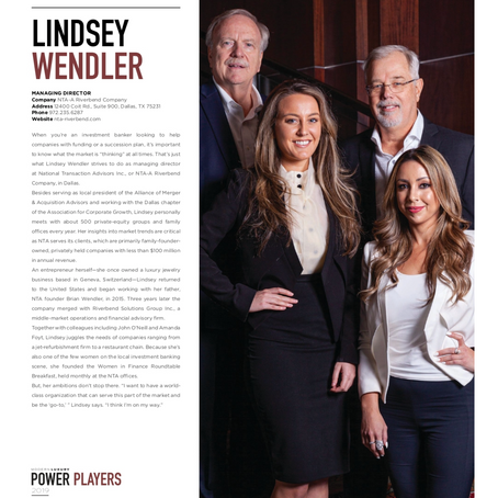 Lindsey Wendler Named Power Player in Dallas Modern Luxury Magazine