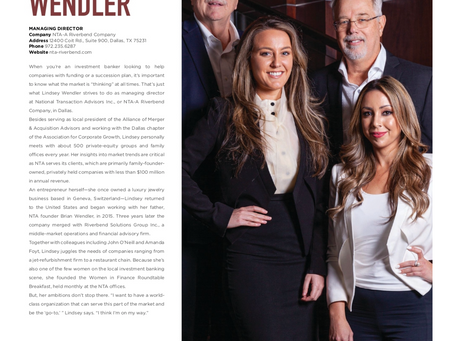 LINDSEY WENDLER NAMED DALLAS POWER PLAYER BY MODERN LUXURY MAGAZINE