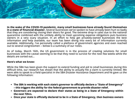 Emergency Funding Help for Small Businesses Impacted by COVID-19