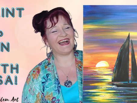 Learn to Paint a Sunset with Sailboat!
