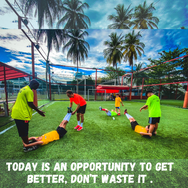 Today is an opportunity to get better, don't waste it