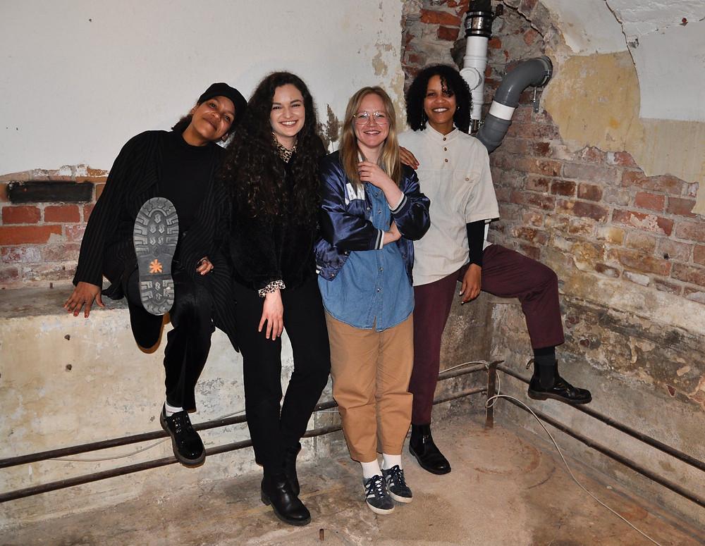 Kuvassa: Naomi Holopainen, Jasmin Assulin, Iina Salminen ja Wanda Holopainen