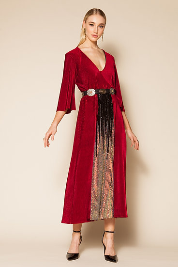 MEGACLITE VELVET CORDUROY DRESS