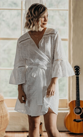 FLORENCE EMBROIDERED BRIDAL ROBE