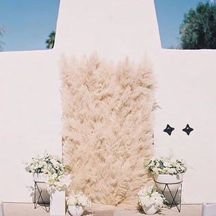 60 GORGEOUS WAYS TO USE PAMPASS GRASS IN YOUR WEDDING