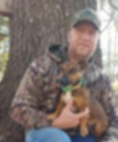 Hunt Terrier Breeder with dog