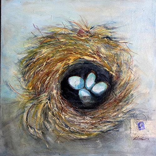 Vintage Nest Print