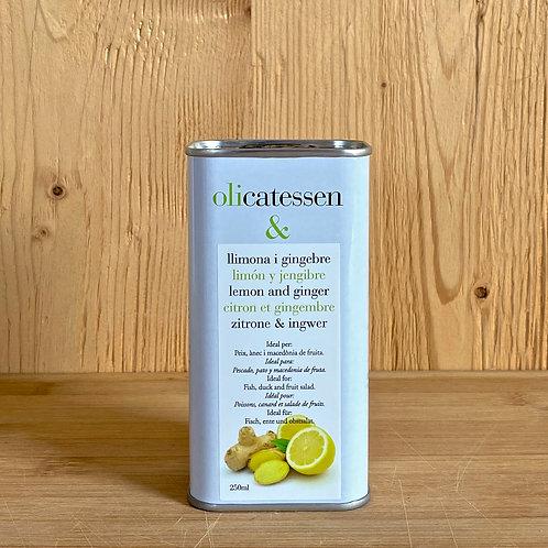 Bio-Olivenöl mit Ingwer/Zitronengeschmack 250ml